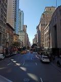 Calle de la ciudad de Manhattan Fotografía de archivo libre de regalías