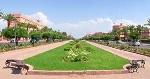 Calle de la ciudad de Marrakesh Imagen de archivo