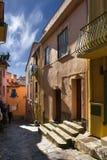 Calle de la ciudad del francés de la juventud Foto de archivo libre de regalías