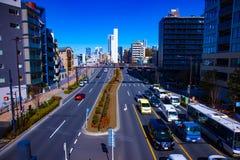 Calle de la ciudad en el centro de la ciudad en el d3ia de Tokio fotos de archivo