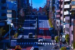 Calle de la ciudad en el centro de la ciudad en el d3ia de Tokio foto de archivo libre de regalías
