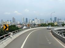 Calle de la ciudad de Jakarta imagen de archivo