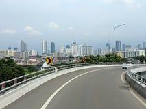 Calle de la ciudad de Jakarta imagenes de archivo