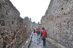 Calle de la ciudad perdida de Pompey imagenes de archivo