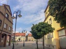 calle de la ciudad provincial fotografía de archivo