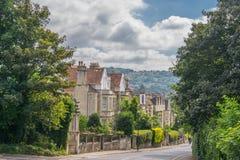 Calle de la ciudad provincial de Inglaterra Imagen de archivo libre de regalías