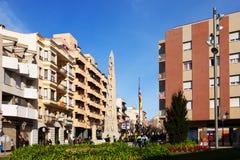 Calle de la ciudad. Valls Fotografía de archivo libre de regalías