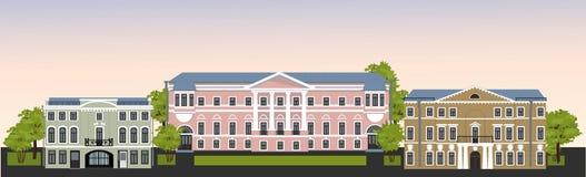 Calle de la ciudad vieja ilustración del vector