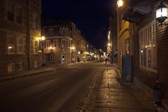 Calle de la ciudad vieja de Quebec Foto de archivo