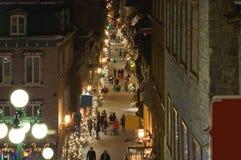 Calle de la ciudad vieja de Quebec imagen de archivo