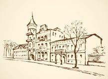 Calle de la ciudad vieja Gráfico del vector