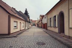 Calle de la ciudad de Ziesar fotos de archivo libres de regalías