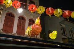 Calle de la comida de Singapur Chinatown Fotografía de archivo libre de regalías