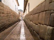 Calle de la configuración del inca Imágenes de archivo libres de regalías