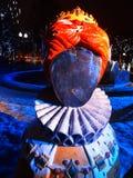 Calle de la decoración del Año Nuevo de la muñeca grande Imágenes de archivo libres de regalías