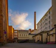 Calle de la fábrica Imagen de archivo libre de regalías