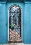 Calle de la fila del arco iris en el paisaje y el hist de Charleston Carolina del Sur imagen de archivo