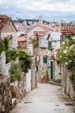 Calle de la fractura, Croatia Fotografía de archivo libre de regalías