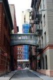 Calle de la grapa, New York City fotos de archivo