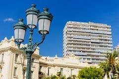 Calle de la lámpara en Mónaco Fotos de archivo