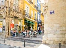 Calle de La Lonja Street. Valencia. Comunidad Valenciana, Spain Royalty Free Stock Photos