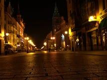 Calle de la noche Foto de archivo libre de regalías