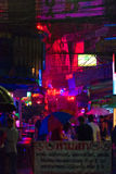 Calle de la noche fotos de archivo