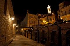 Calle de la noche en Tbilisi Imagen de archivo libre de regalías