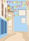 Calle de la pequeña ciudad Imágenes de archivo libres de regalías