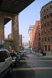 Calle de la perla, DUMBO, Brooklyn, NYC. Foto de archivo libre de regalías