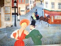Calle de la pintada de Bruselas stock de ilustración