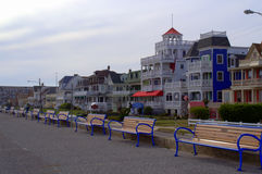 Calle de la playa, Cape May NJ, los E.E.U.U. Imagen de archivo