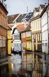 Calle de la señal en Aalborg Foto de archivo libre de regalías