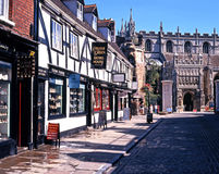 Calle de la universidad, Gloucester imagen de archivo