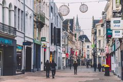 Calle de las compras de Gante en Bélgica Fotos de archivo