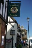 Calle de las ovejas de Stratford-sobre-Avon imagen de archivo libre de regalías