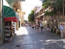 Calle de Ledra en Nicosia Chipre imagen de archivo