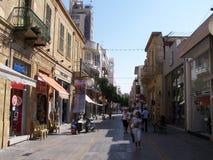 Calle de Ledra en Nicosia Chipre foto de archivo libre de regalías