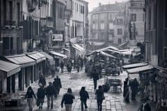 Calle de Leonardo de San de la tierra de Río Foto de archivo