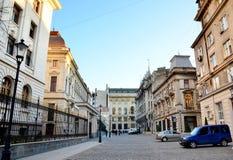 Ciudad vieja de Bucarest Fotografía de archivo libre de regalías