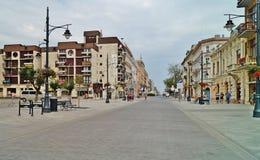 Calle de Lodz, Piotrkowska Foto de archivo libre de regalías