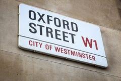 calle de Londres Oxford Foto de archivo libre de regalías