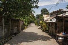 Calle de los suburbios de Bacolod Foto de archivo