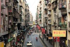 Calle de Macao Imagen de archivo libre de regalías