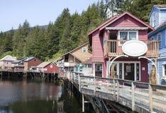 Calle de madera de Alaska Foto de archivo