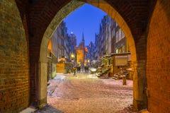 Calle de Mariacka en Gdansk, Polonia Fotos de archivo libres de regalías