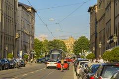 Calle de Maximiliano en Munich, Alemania Fotografía de archivo