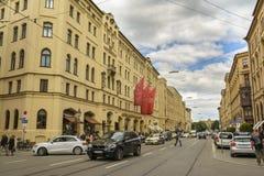 Calle de Maximiliano en Munich, Baviera, Alemania Imagen de archivo