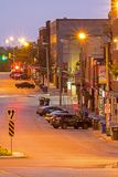 Calle de McDonnell en Guelph, Ontario foto de archivo