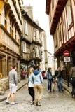 Calle de Medieveil de Vannes Fotografía de archivo libre de regalías